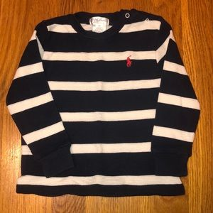 Ralph Lauren blue and white stripe thermal